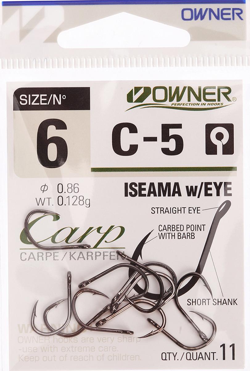 Крючок рыболовный Owner 53265 С-5 Carp №6, 2625570, 11 шт