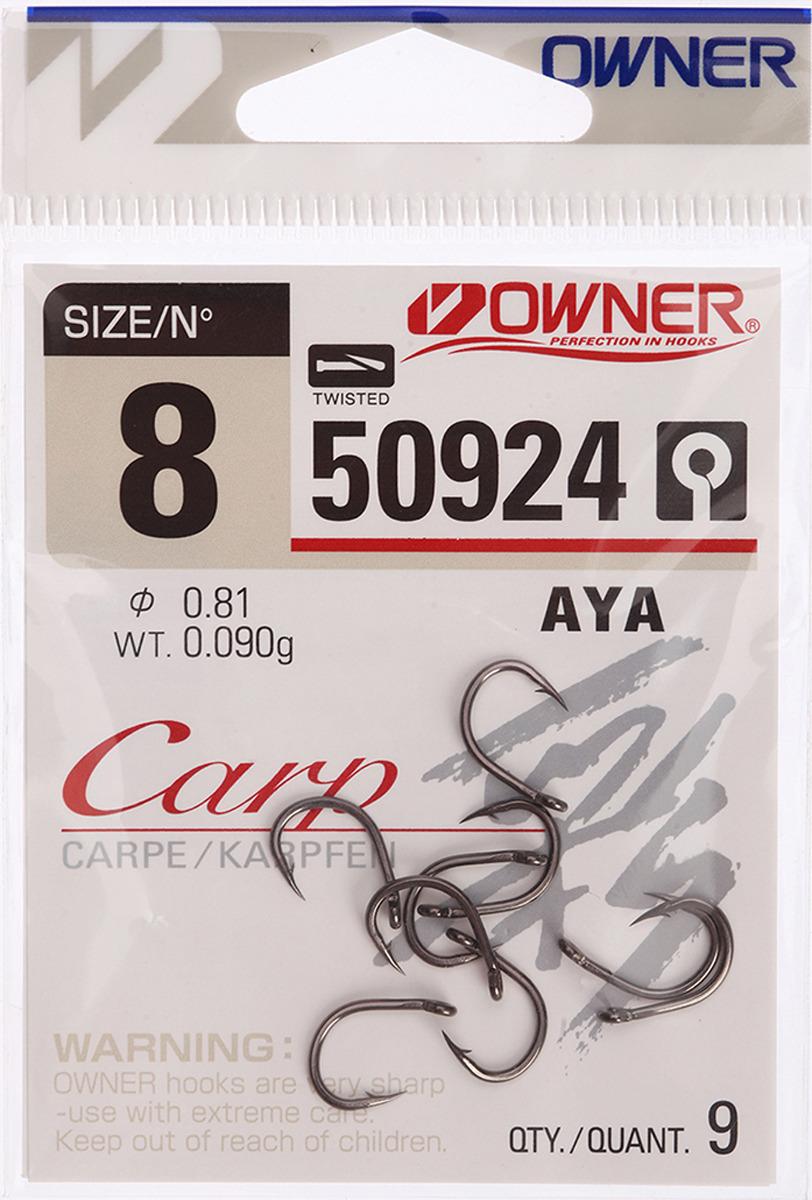 Крючок рыболовный Owner 50924 С-4 Carp №8, 3120716, 9 шт
