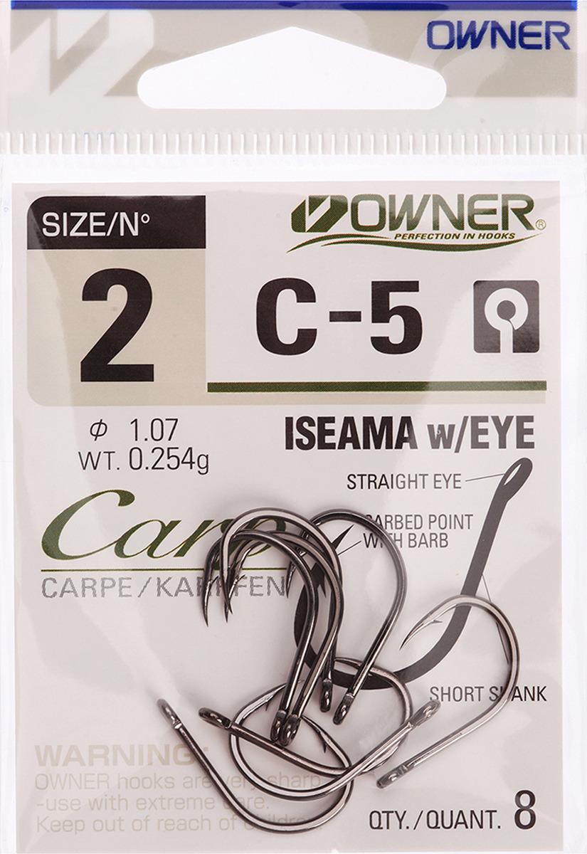 Крючок рыболовный Owner 53265 С-5 Carp №2, 3120729, 8 шт