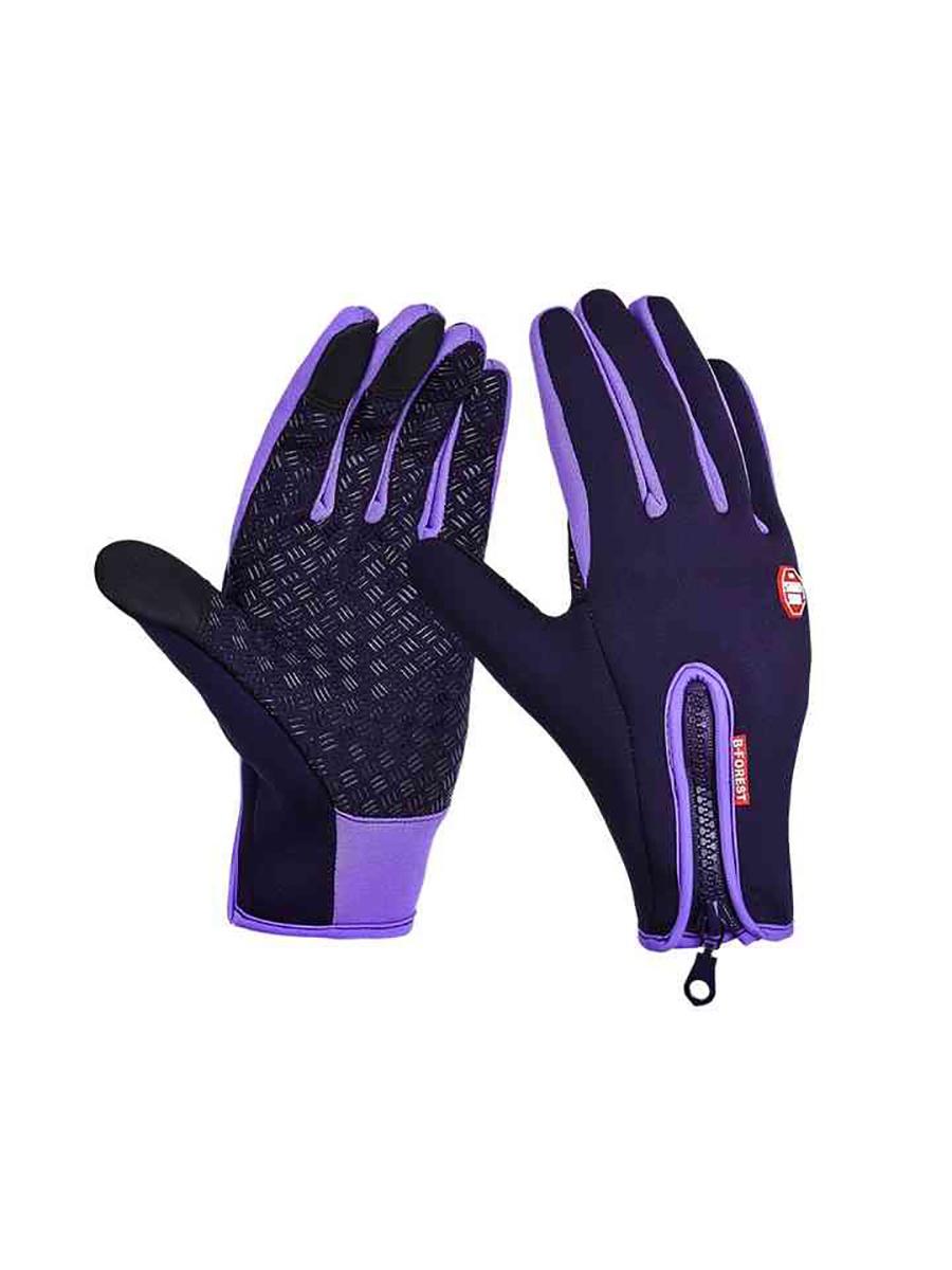 Перчатки лыжные MoscowCycling MC-GLOVE-04-L, фиолетовый