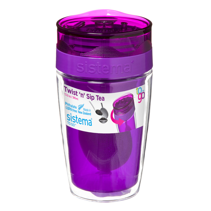 Термокружка Sistema 21476_фиолетовый, Пластик