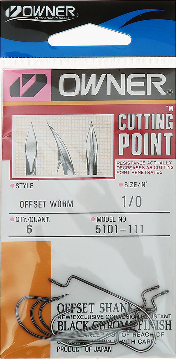 Крючок рыболовный Owner 5101 (B-11) №1/0, 3464992, 6 шт