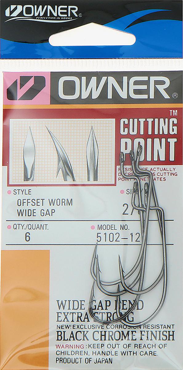 Крючок рыболовный Owner 5102 BC №2/0, 3464996, 6 шт