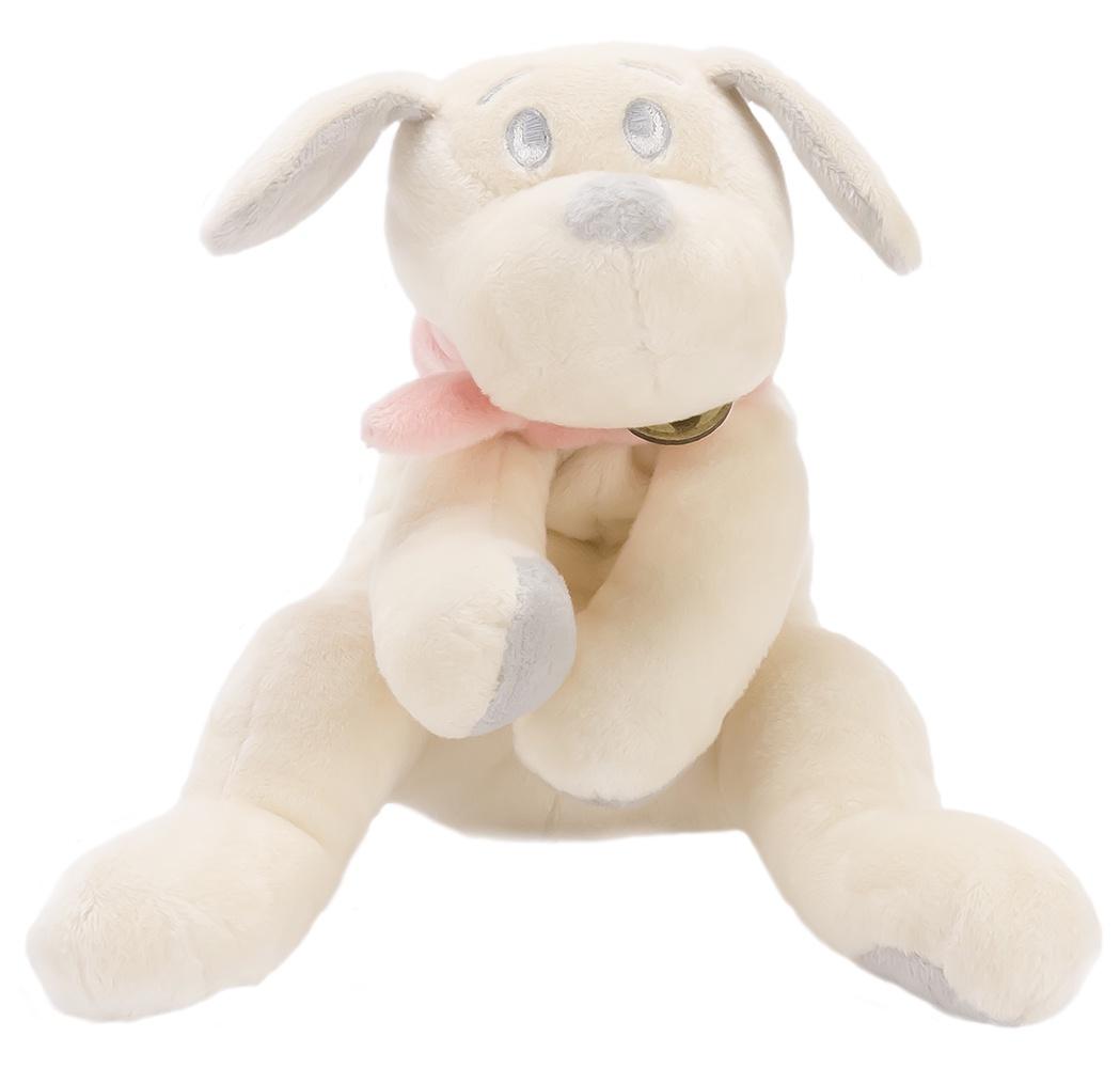 Мягкая игрушка Lapkin Собака 15см белый/розовый (AT365199)