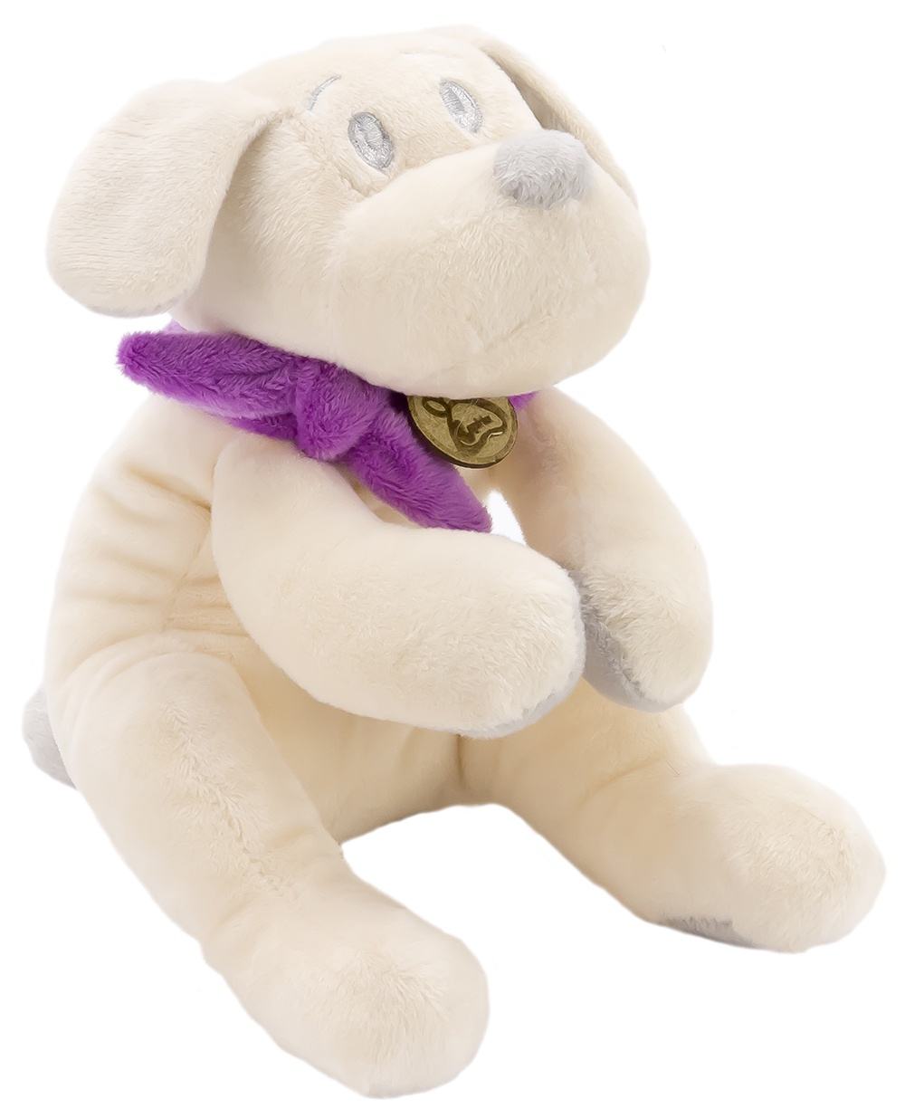 Мягкая игрушка Lapkin Собака 15см белый/фиолетовый (AT365200)