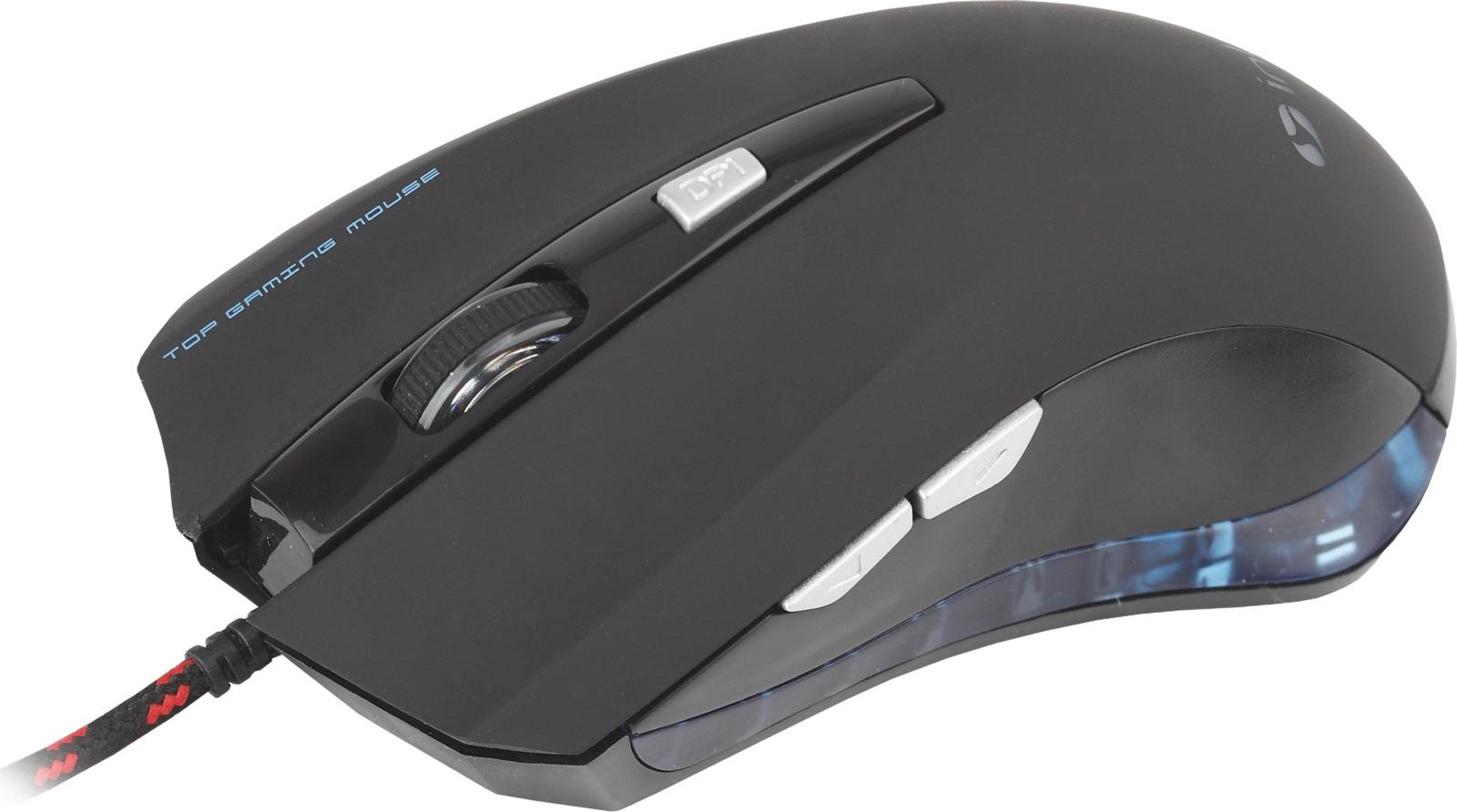 Мышь игровая проводная Intro Gaming, MU230G, черный
