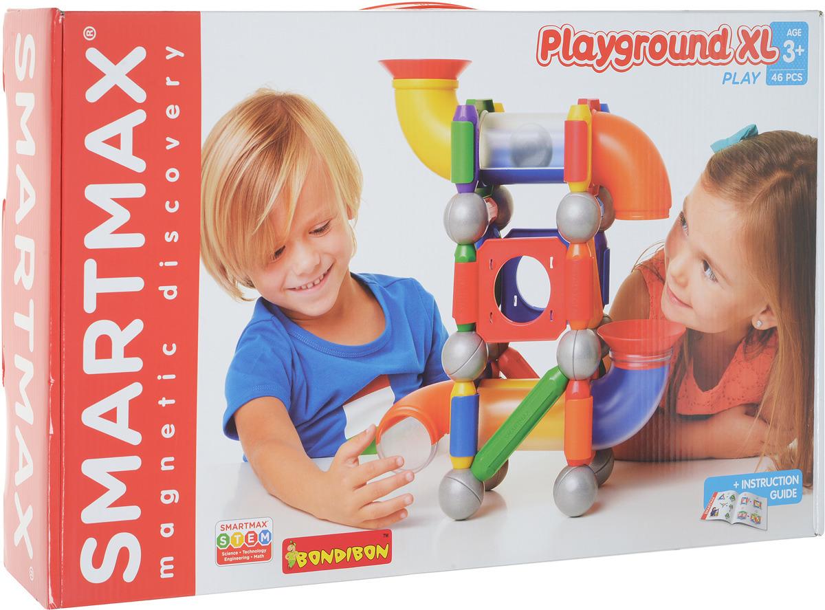 Bondibon Магнитный конструктор SmartMax Большая игровая площадка bondibon конструктор магнитный smartmax дополнительный набор вв0872