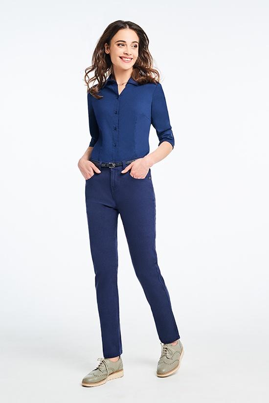 Брюки Senta, темно-синий 42 размер брюки для беременных one plus one цвет темно синий v632335 размер 46