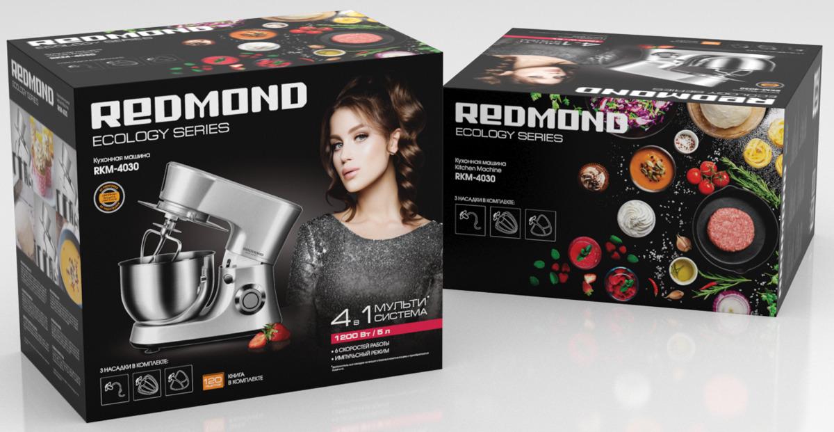 Кухонный комбайн Redmond RKM-4030, серый металлик Redmond