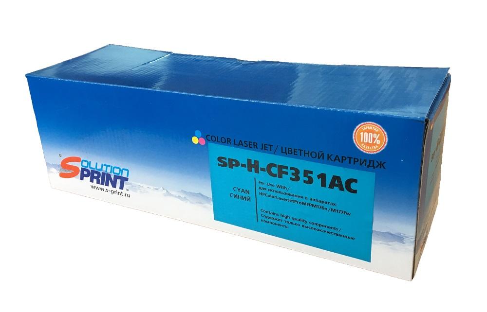 Картридж Solution Print CF351A, голубой, для лазерного принтера