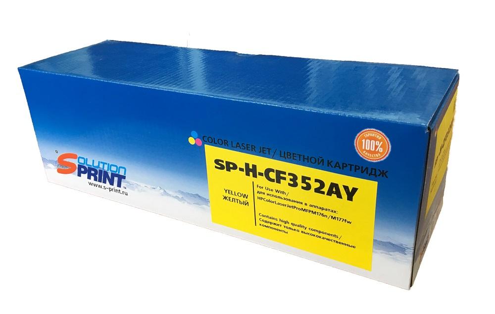 Картридж Solution Print CF352A, желтый, для лазерного принтера картридж profiline pl ce313a 729 for hp cp1025 cp1025nw m175a m175nw m275 canon 7010 7010c lbp7018c magenta