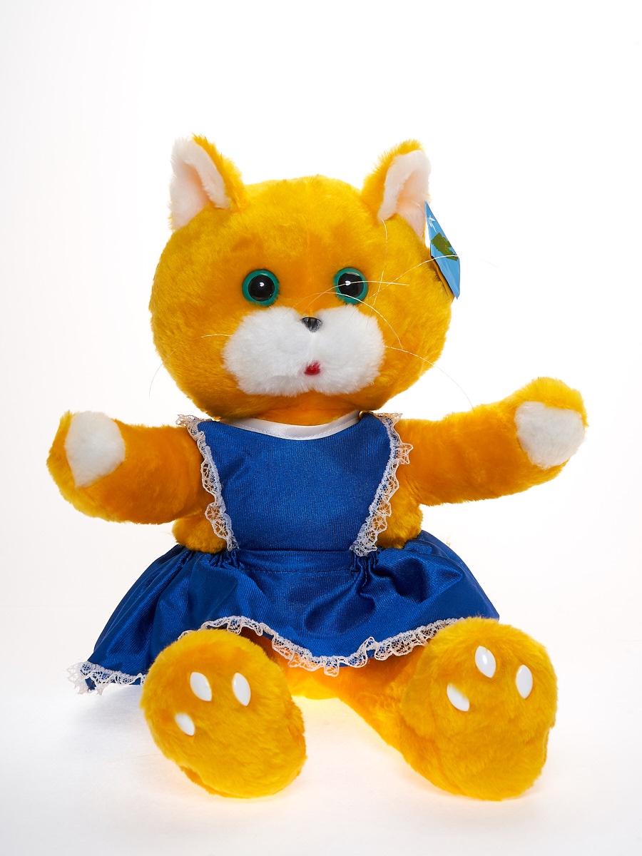 Мягкая игрушка Радомир С354/кошкамусяжелтый желтый, синий