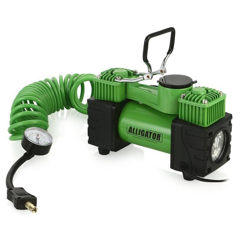 Автомобильный компрессор Autoprofi AL-500, черный, зеленый autoprofi kan 500