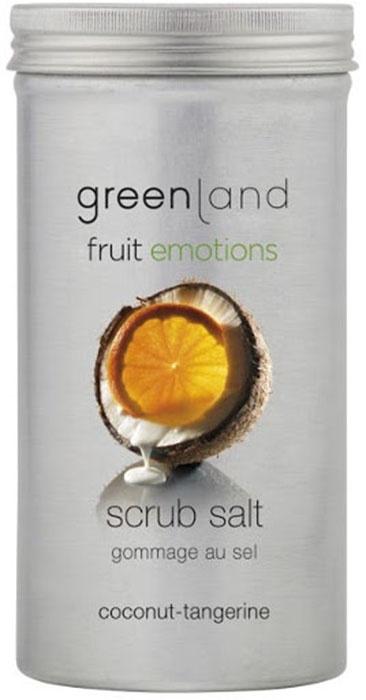 Скраб Greenland соляной, кокос-мандарин, 400 г цена в Москве и Питере