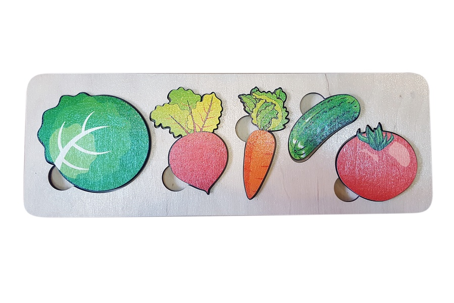 Фото - Обучающая игра Нескучные игры Пазл-рамка для малышей Овощи 7925 рамка вкладыш нескучные игры фрукты