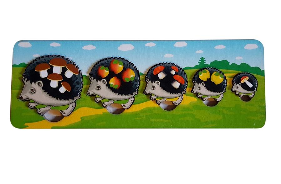 Обучающая игра Нескучные игры Пазл-рамка для малышей Ежики 7934 learning journey изучаем формы игра с цветами и формами