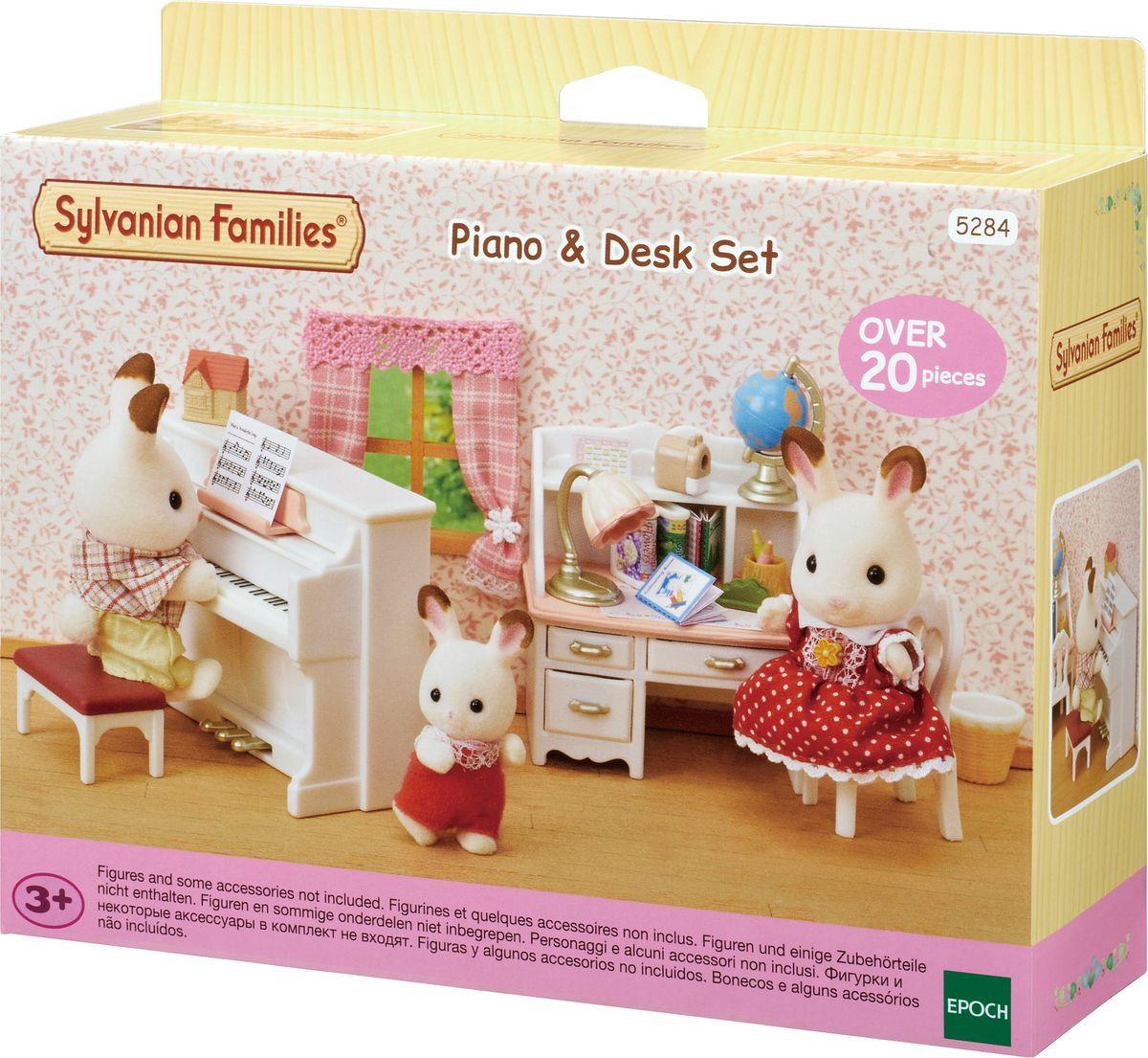 Игровой набор Sylvanian Families Фортепиано и школьный стол
