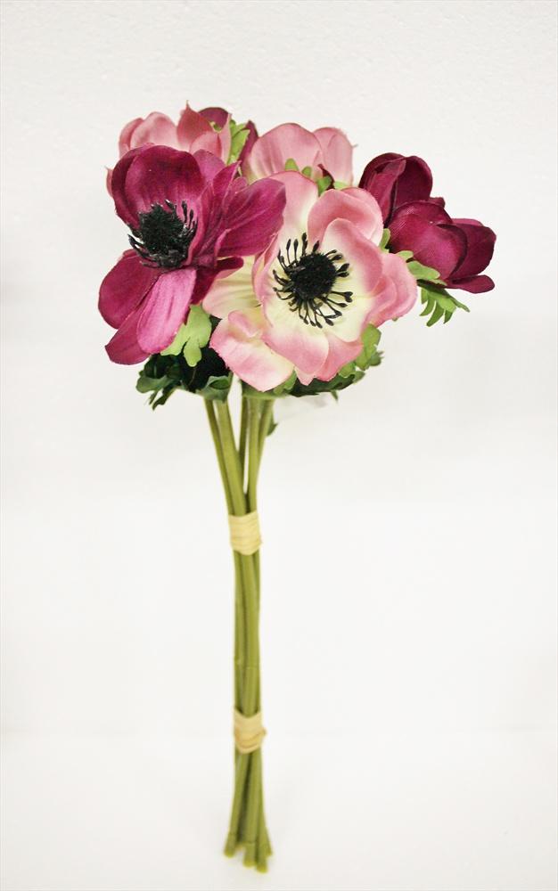Искусственные цветы Coneko Анемоны искусственные в виде букета 555558_BT-MIX_AB4401 , 33 см искусственные цветы coneko 4 зеленый