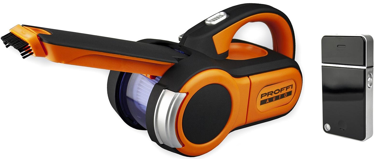 Электробритва PROFFI ISHAVE с USB-зарядкой и пылесос автомобильный PA0327 (AUTO «Титан»), черный, оранжевый, серый автомобильный пылесос proffi auto pa0329