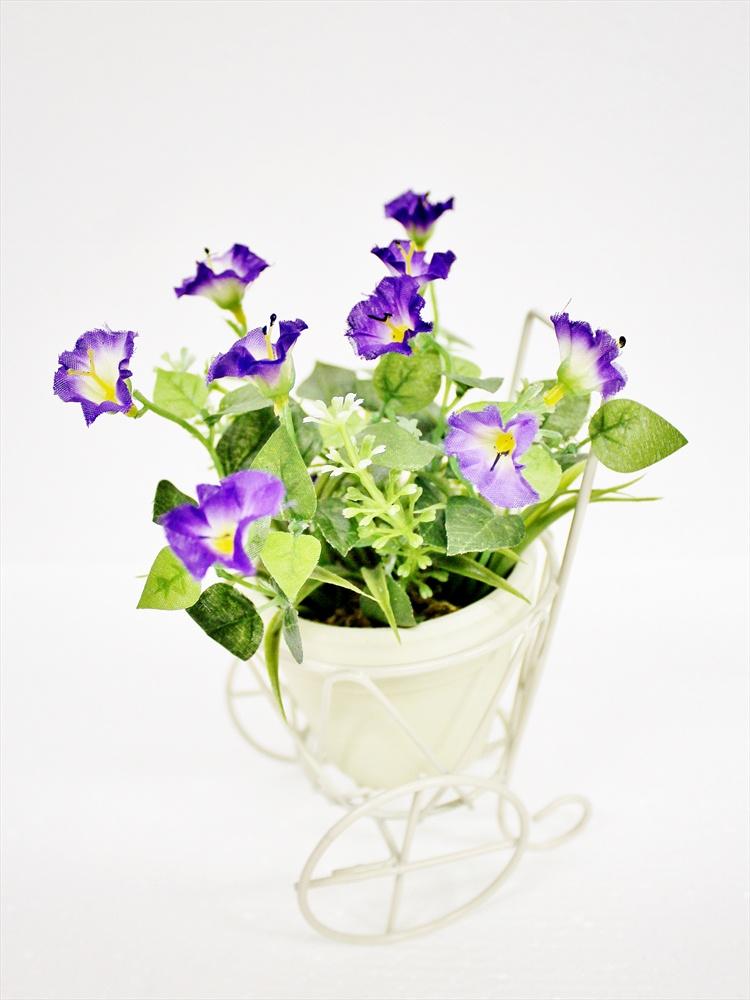 Искусственные цветы Coneko-decor Цветы искусственные в горшке 20 см 555428_dark_lilac , 20 см искусственные цветы coneko 4 зеленый