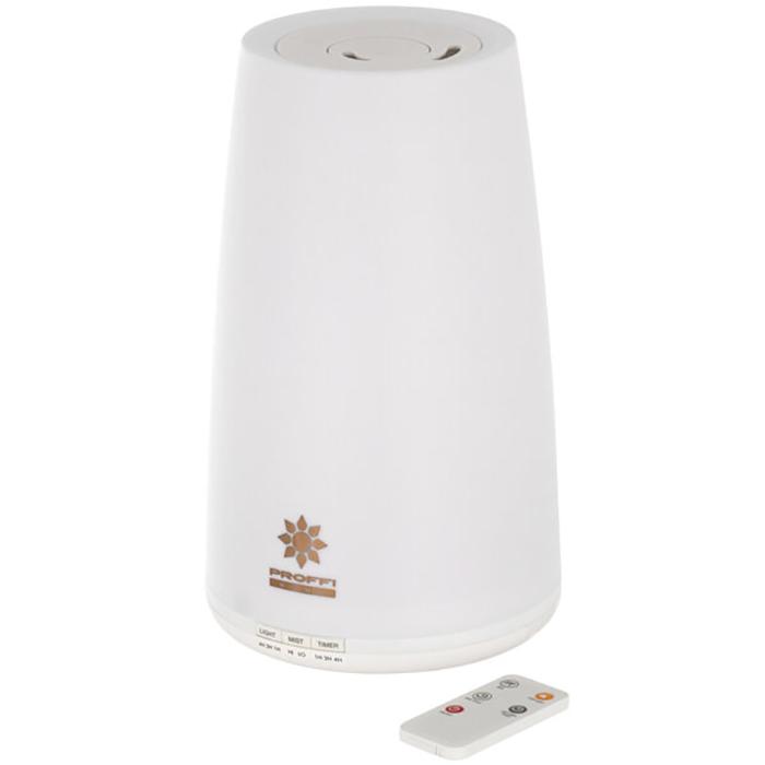 лучшая цена Увлажнитель воздуха PROFFI ультразвуковой с пультом, с LED подсветкой и компактный тепловентилятор NANO, 750 Вт, черный, белый, бежевый