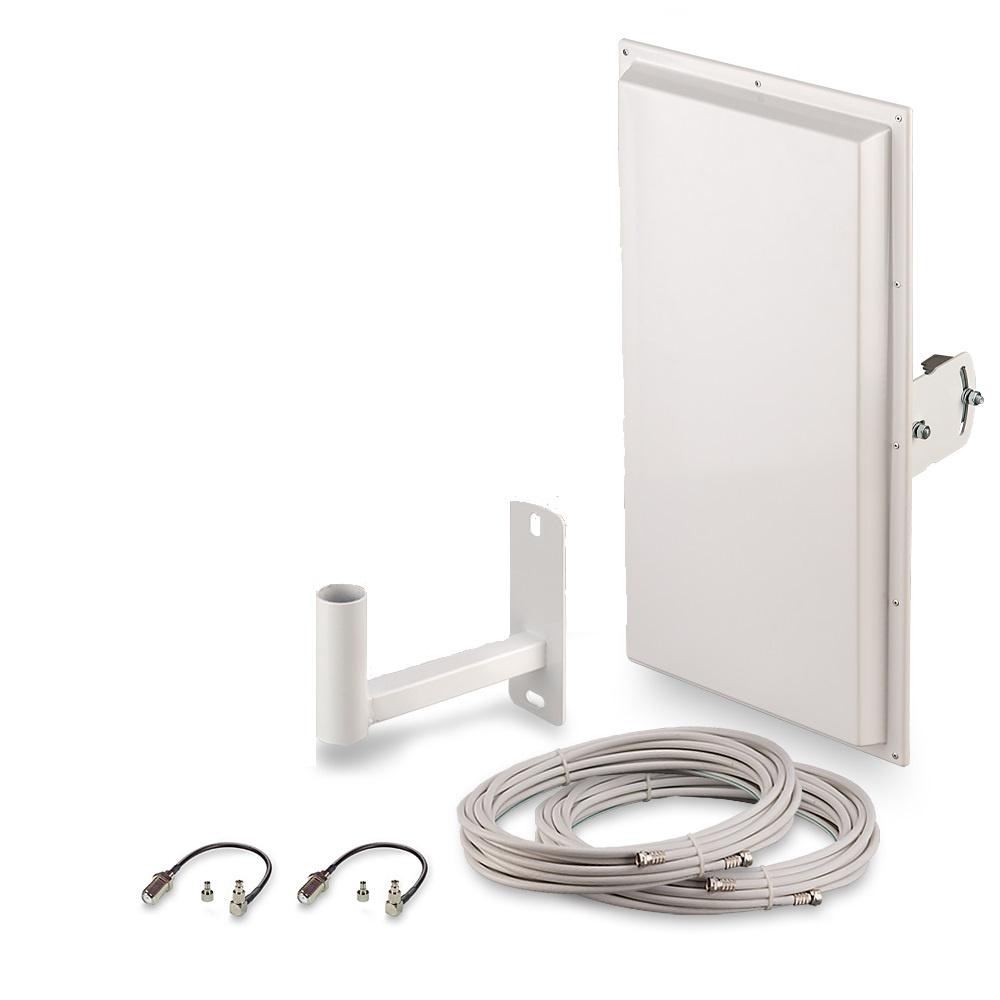 Антенна для сотового сигнала ZDK Комплект для усиления 3G/4G сигнала Signal 4G-18 MIMO, белый ZDK