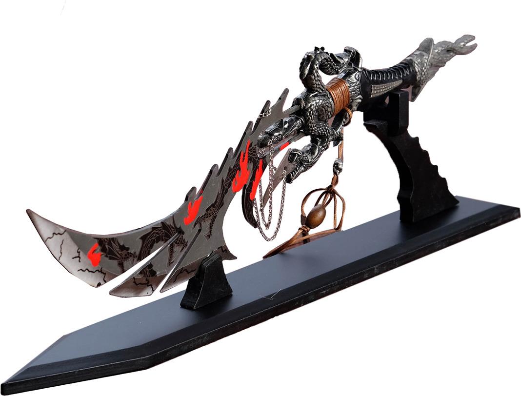 Кинжал сувенирный Сердце дракона, на подставке, 39 см сувенирное оружие кинжал гифтман 81010
