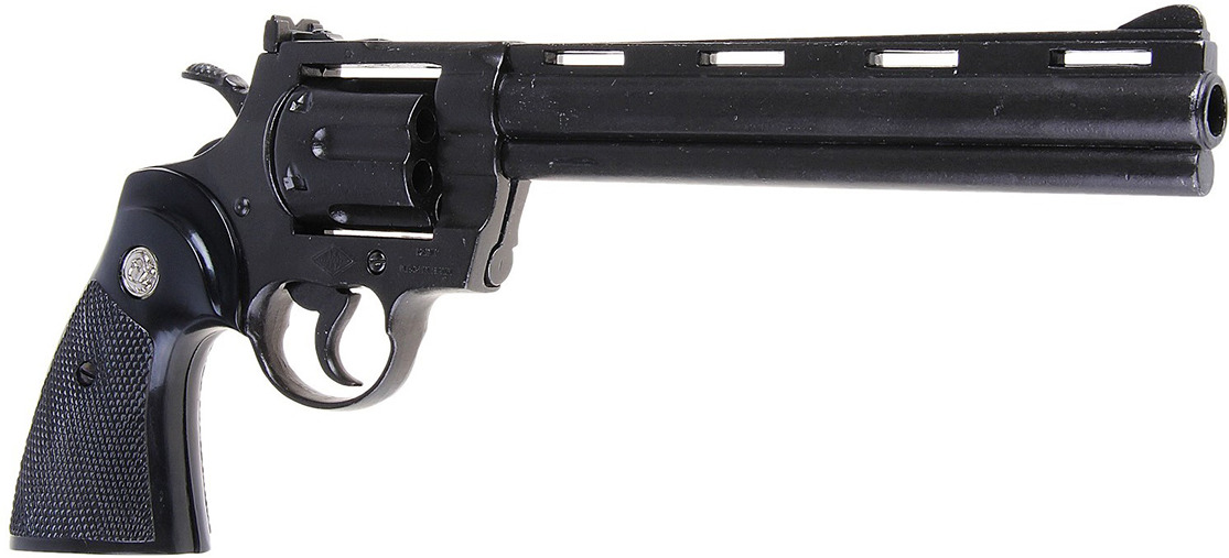 Сувенирное оружие Denix Макет револьвера Кольт Magnum, 357 мм, 1955 г., 4 ? 36 см