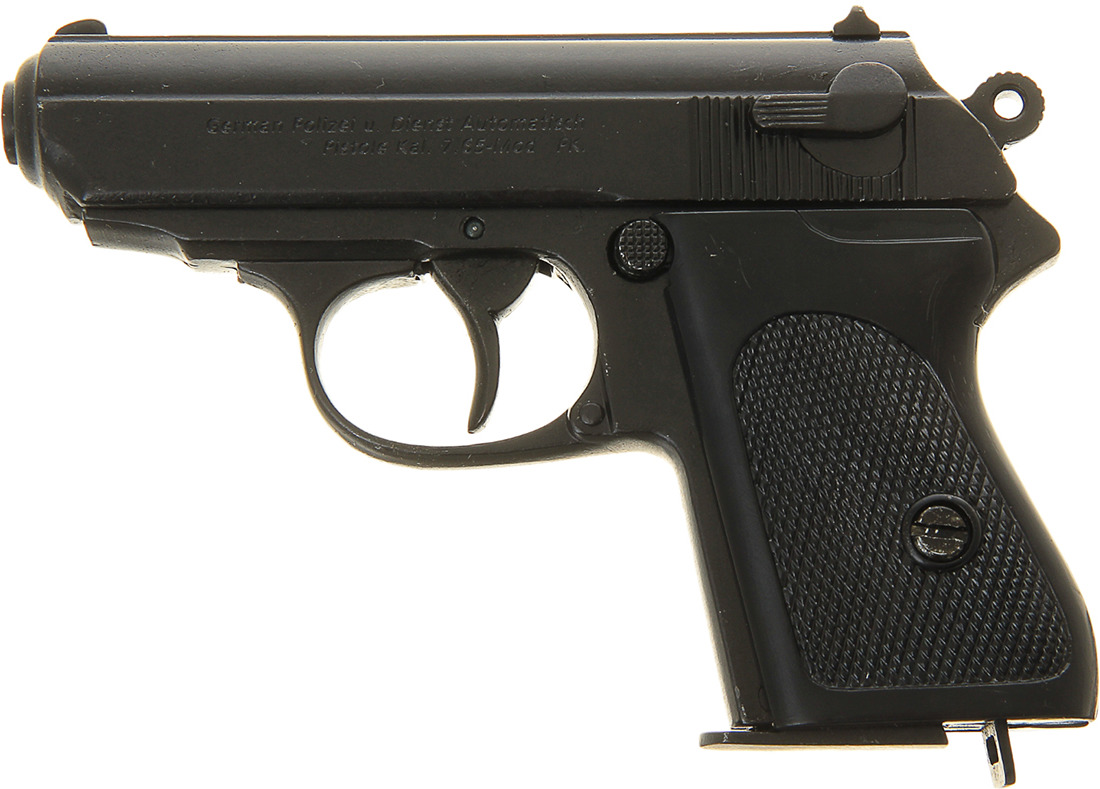 Сувенирное оружие Denix Макет полуавтоматического пистолета Вальтер РРК Waffen-SS, 7,65 мм, Германия, 1919 г., 192587, 21,5 ? 15 ? 4 см the waffen ss 1