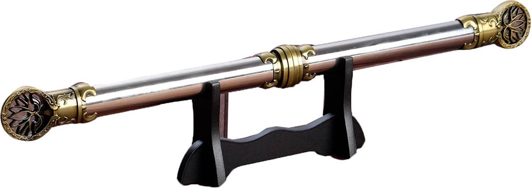 Кортик сувенирный, наконечник с лотосом, на подставке, 59 см2880678Оригинальный вариант подарка для ценителя и коллекционера сувенирного оружия, которое выполнено в духе лучших старинных образцов.