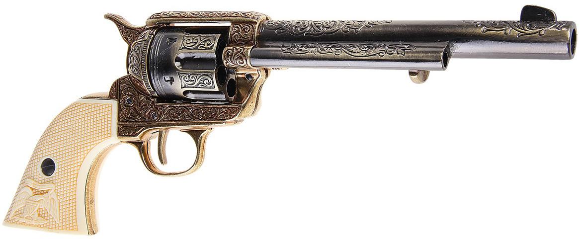 Сувенирное оружие Denix Макет револьвера Кольт The Equalizer, 45 мм, 1873 г., 33 ? 12,5 ? 34 см