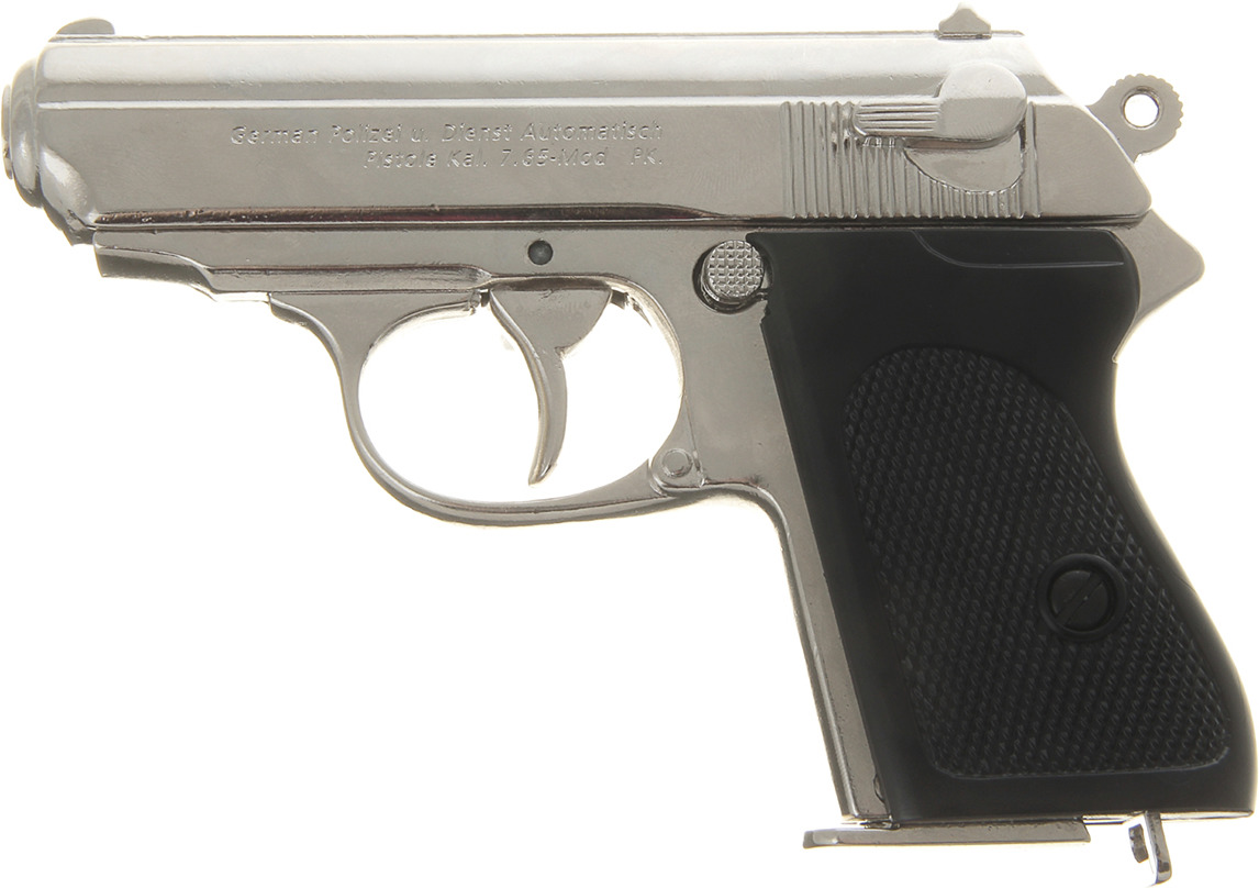 Сувенирное оружие Denix Макет полуавтоматического пистолета Вальтер РРК Waffen-SS, 7,65 мм, Германия, 1919 г., 192588, 21,5 ? 15 ? 4 см the waffen ss 1