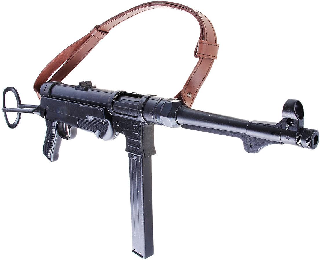 Сувенирное оружие Denix Макет пистолета-пулемета Фольмер MP-40, 9 мм, Германия, 1940 г., 7 ? 19 ? 64 см