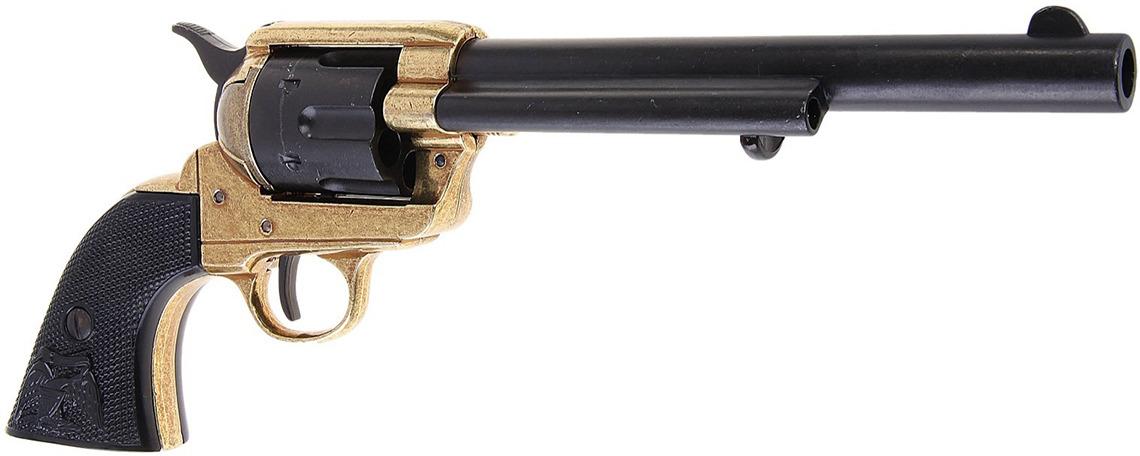 Сувенирное оружие Denix Макет револьвера Кольт PeaceMaker, 45 мм, 1873 г., 13 ? 4 ? 35 см