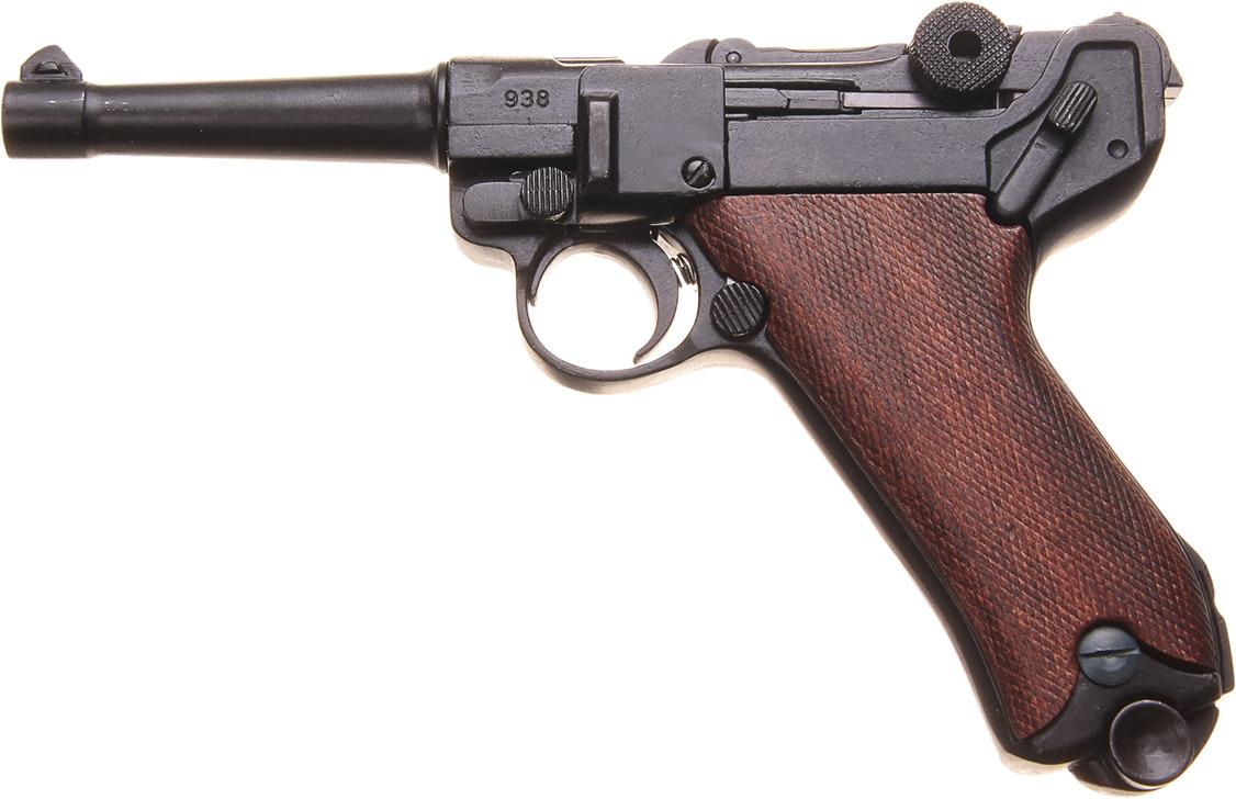 Сувенирное оружие Denix Макет пистолета Люгера Парабеллум P08, 9 мм, Германия, 1900 г., 3,5 ? 32,5 ? 15 см сувенирное оружие кинжал гифтман 81010