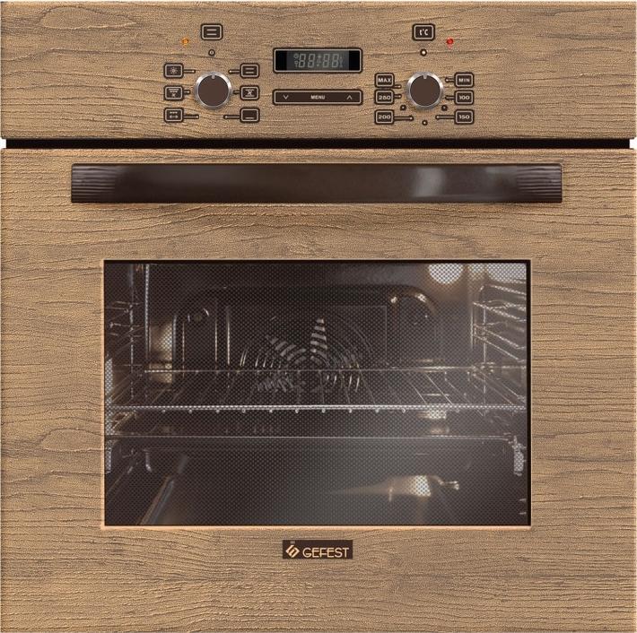 Духовой шкаф Электрический Gefest ЭДВ ДА 622-02 К47 коричневый/рисунок