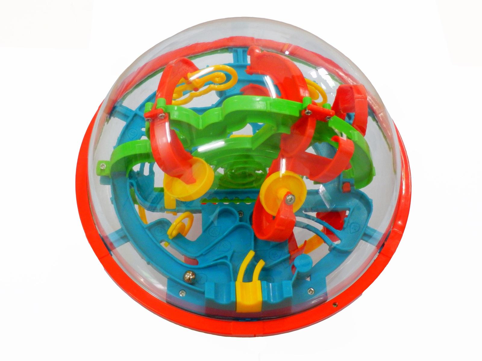 "Лабиринт Icoy Toys головоломка ""Шар-лабиринт"" 100 шагов 21 см прозрачный"