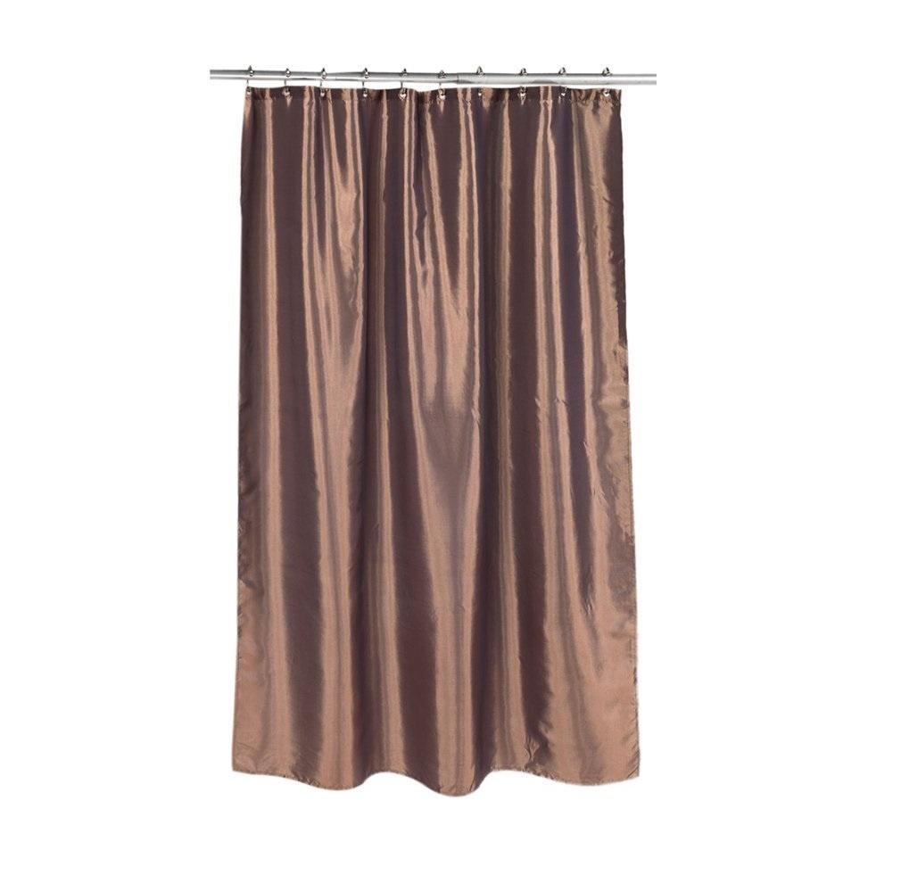 Штора для ванной Carnation Home Fashions Shimmer Bronze, коричневый famous home fashions alys hooks bronze