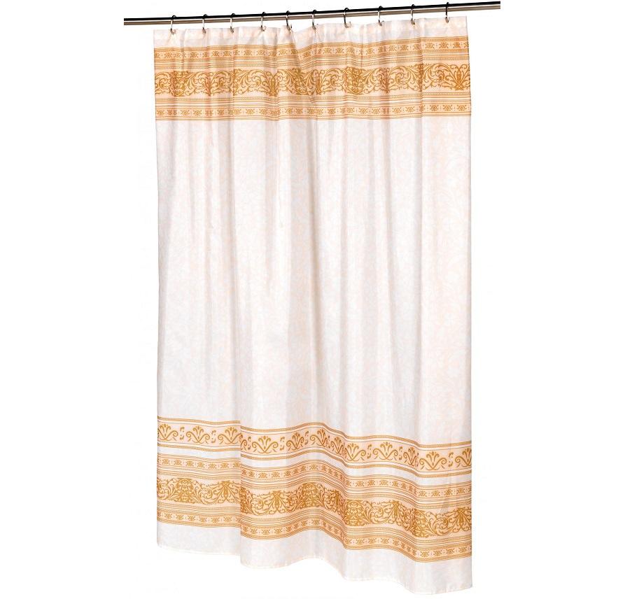 все цены на Штора для ванной Carnation Home Fashions Fleur, бежевый онлайн