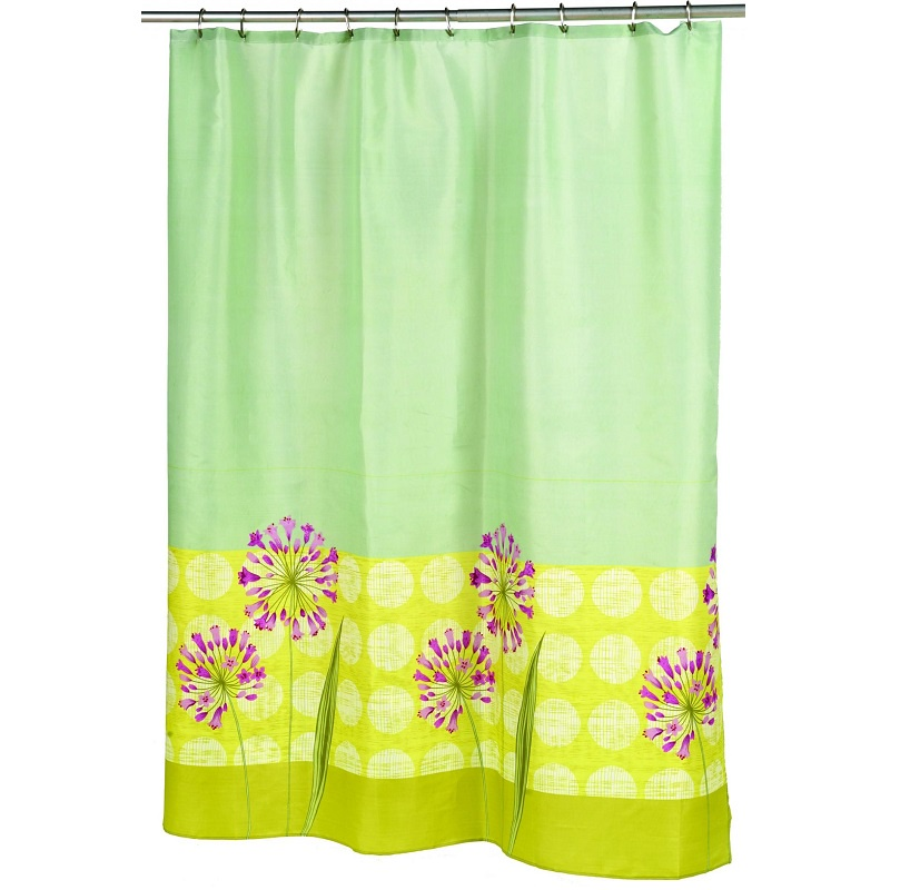 все цены на Штора для ванной Carnation Home Fashions Serenity, салатовый, разноцветный онлайн