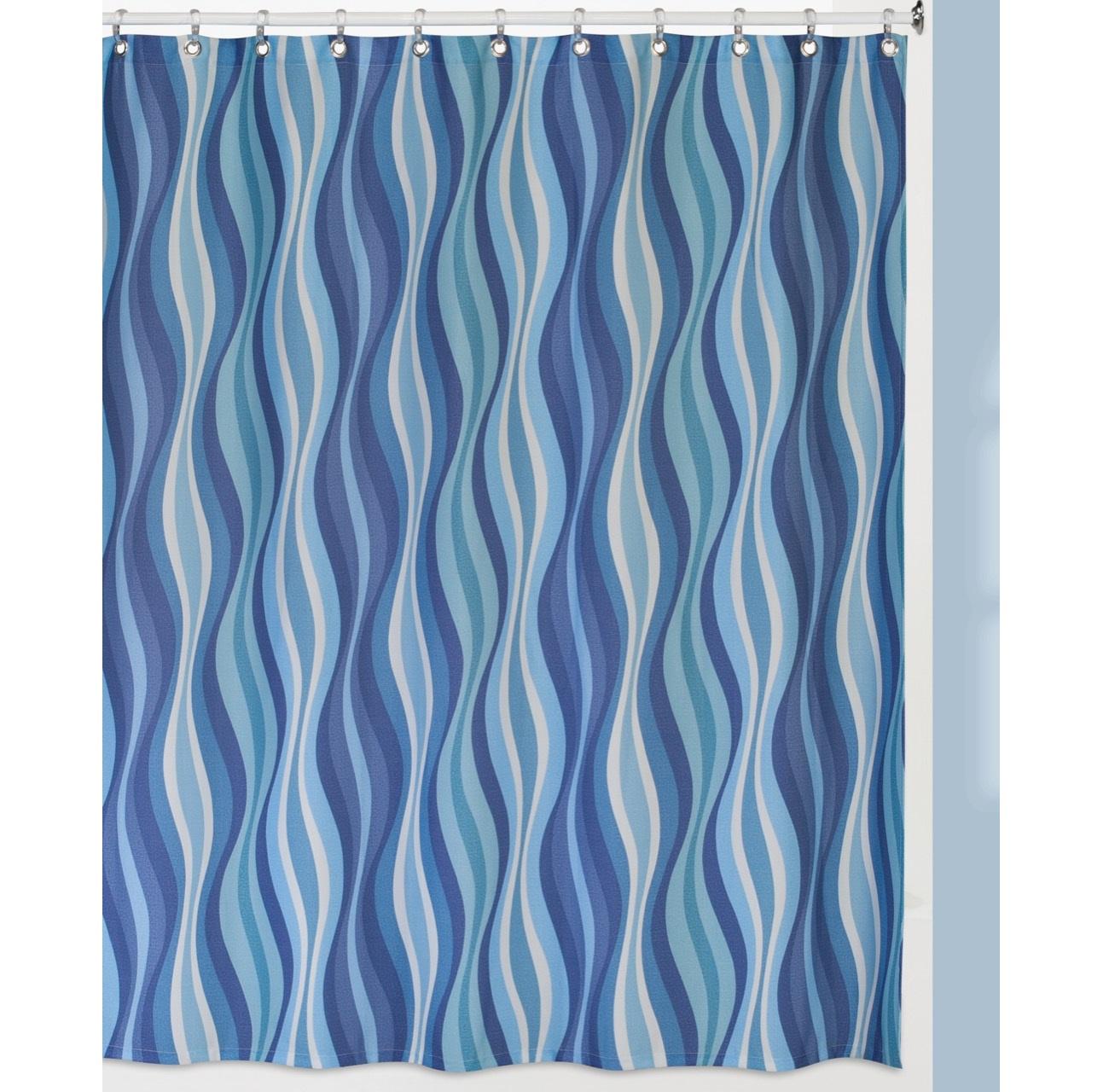 Штора для ванной Creative Bath Wavelength, синий, голубой sartoria campo napoli pубашка