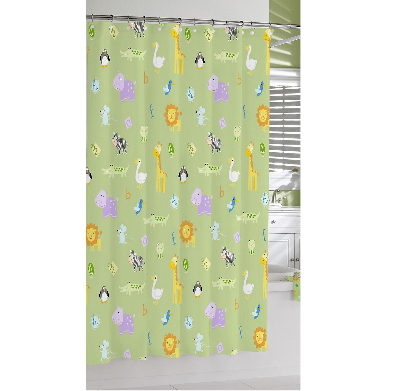 Штора для ванной Kassatex Zoo Friends Garden, зеленый, разноцветныйSCB-115-ZFR-GRNДобавив в интерьер ванной комнаты несколько стильных вещей, можно полностью преобразить ее облик и обновить дизайн. Коллекция для ванной ТМ Kassatex изобилуют разнообразными аксессуарами, которые способны создать новый образ или освежить старый. В любом случае, с ними ваше пространство засияет новыми красками. Строгие и одновременно изящные линии, тонкое чувство стиля, отменное качество исполнения рождает продукты, которые выдержат испытание временем.ВНИМАНИЕ: кольца (крючки) в комплект не входят, а приобретаются отдельно.