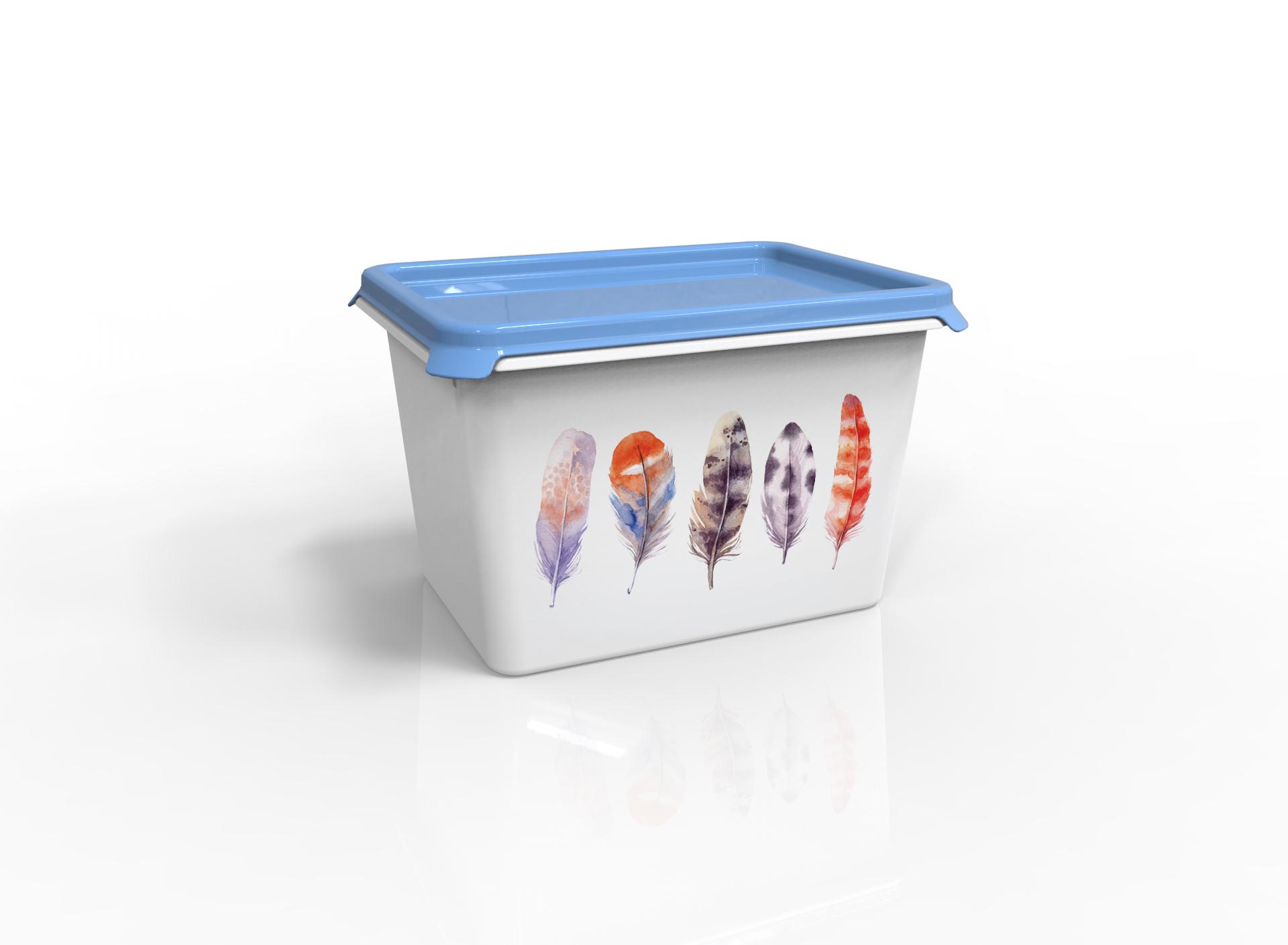 Контейнер для хранения вещей Berossi Serenity, голубой контейнер для хранения вещей berossi ик 54233000 слоновая кость