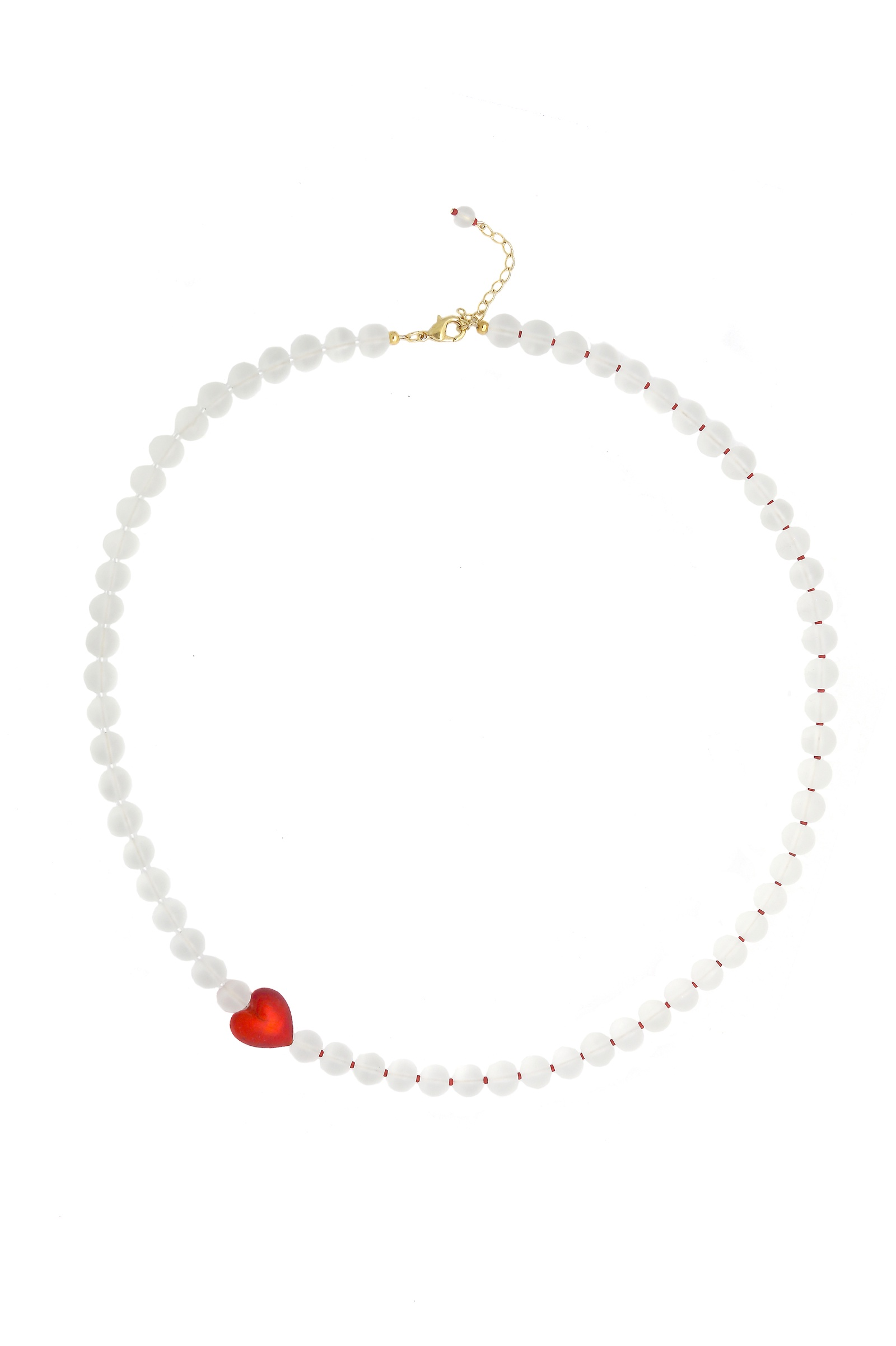 Колье/ожерелье бижутерное Боттега Мурано 09010462 02, Муранское стекло, Кварц, 70+5 см, красный цена