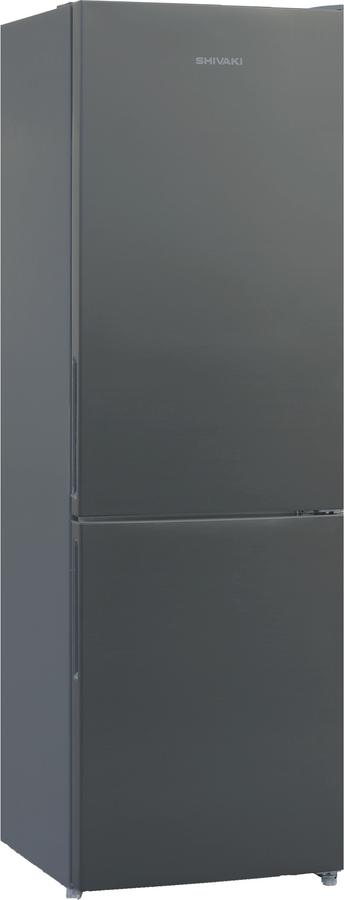 Холодильник Shivaki BMR-1851NFX, двухкамерный, серый металлик
