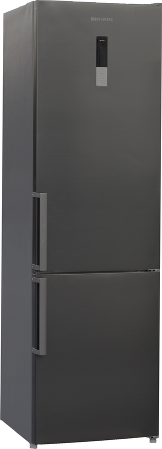 Холодильник Shivaki BMR-2018DNFX, двухкамерный, нержавеющая сталь