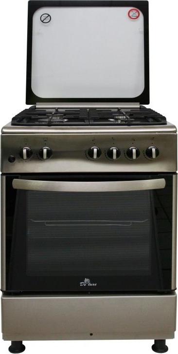 Плита Газовая De Luxe 606040.24-000г (кр) ЧР нержавеющая сталь