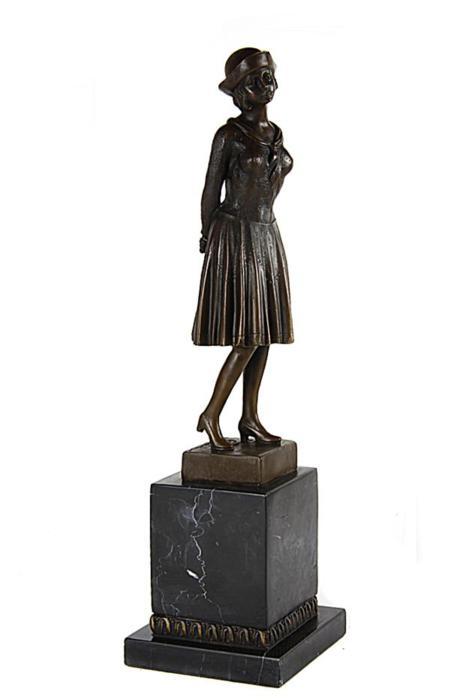 Статуэтка Антик Хобби Девушка в матросской шляпе, бронза статуэтка albertini девушка с голубями высота 24 см