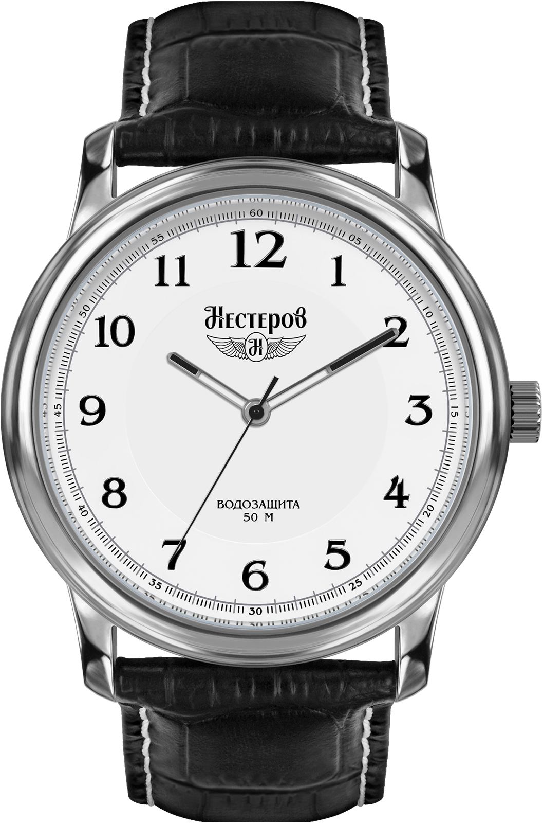 Часы Нестеров H0282B02-01A, белый цена