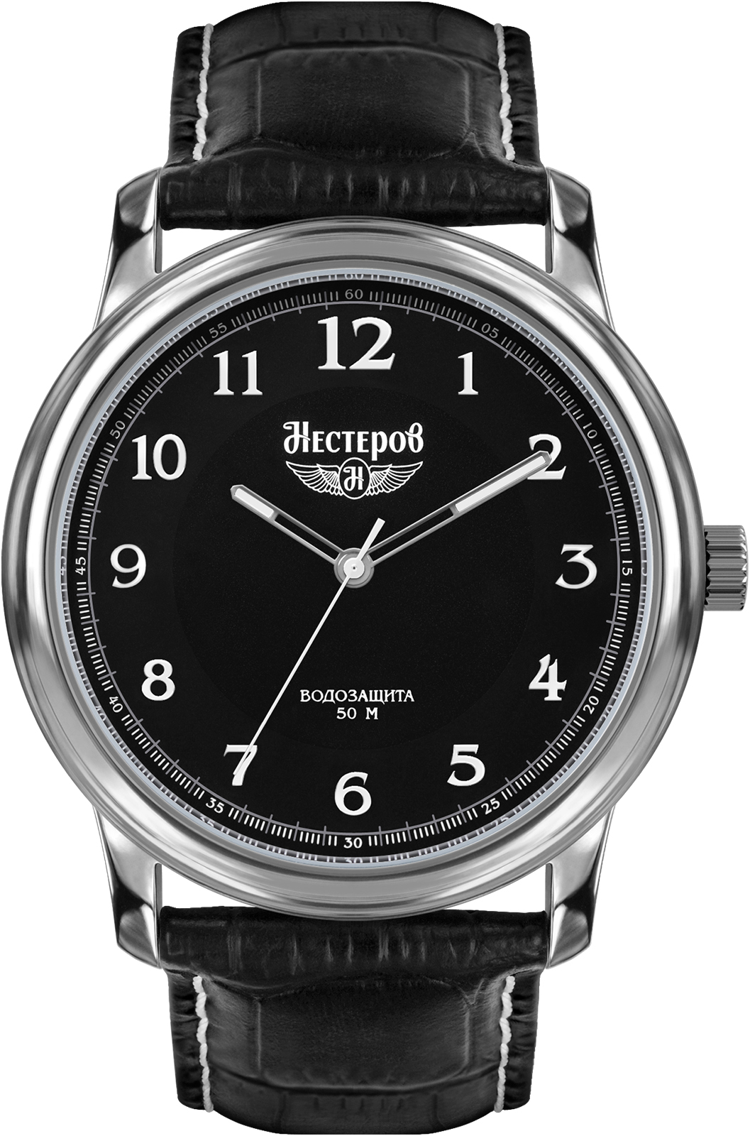 Часы Нестеров H0282B02-01E, черный цена
